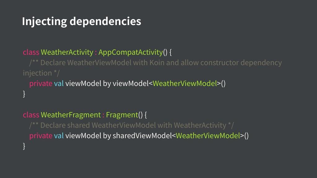 class WeatherActivity : AppCompatActivity() { /...