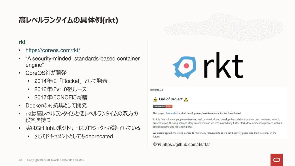 "rkt • https://coreos.com/rkt/ • ""A security-min..."