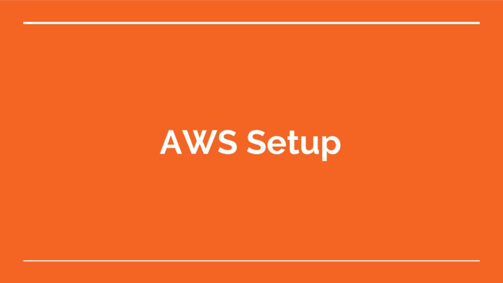 AWS Setup