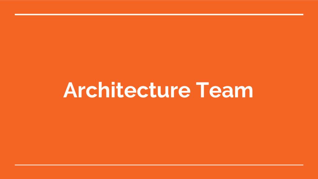 Architecture Team