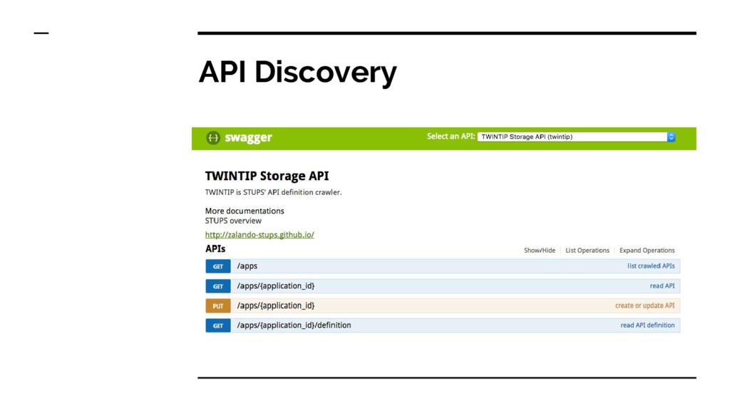 API Discovery