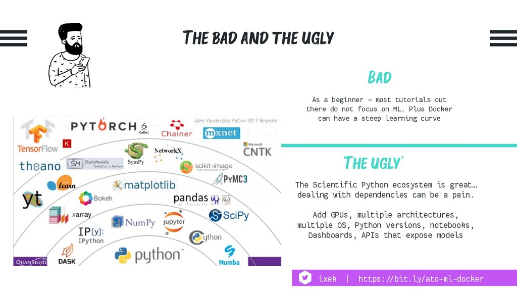 The bad and the ugly Bad As a beginner - most t...