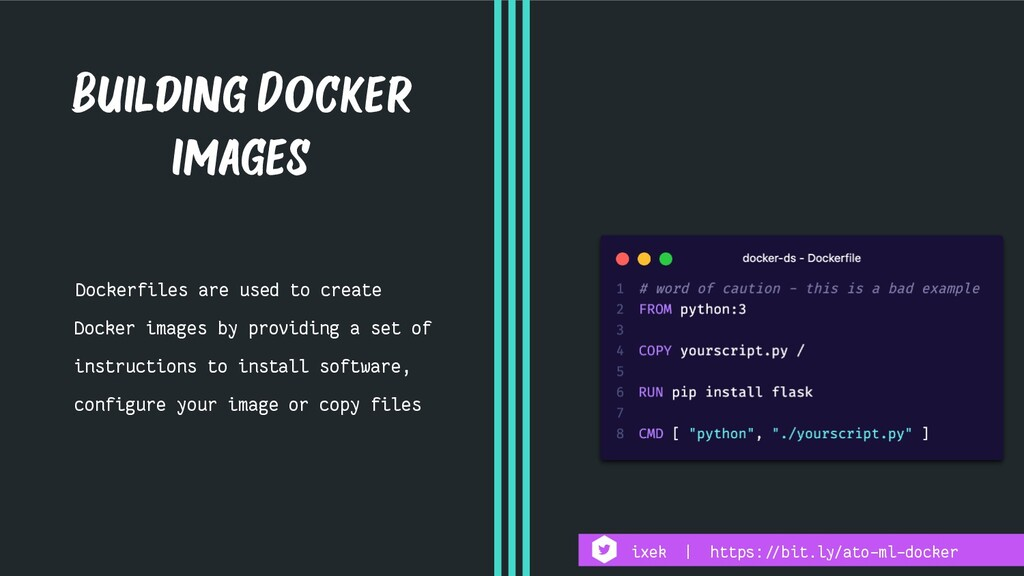 Dockerfiles are used to create Docker images by...