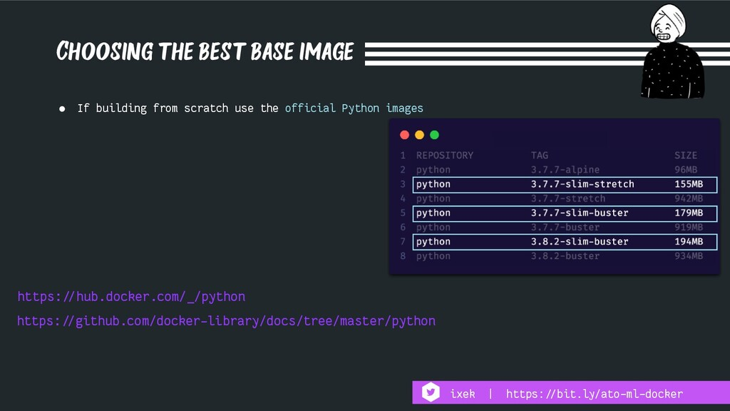 Choosing the best base image https:!//github.co...