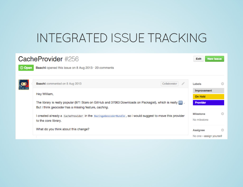 INTEGRATED ISSUE TRACKING