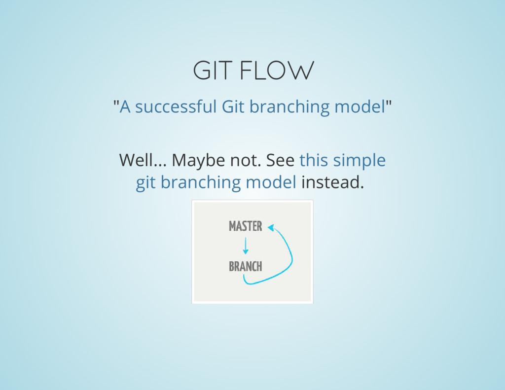 """GIT FLOW """" """" A successful Git branching model W..."""