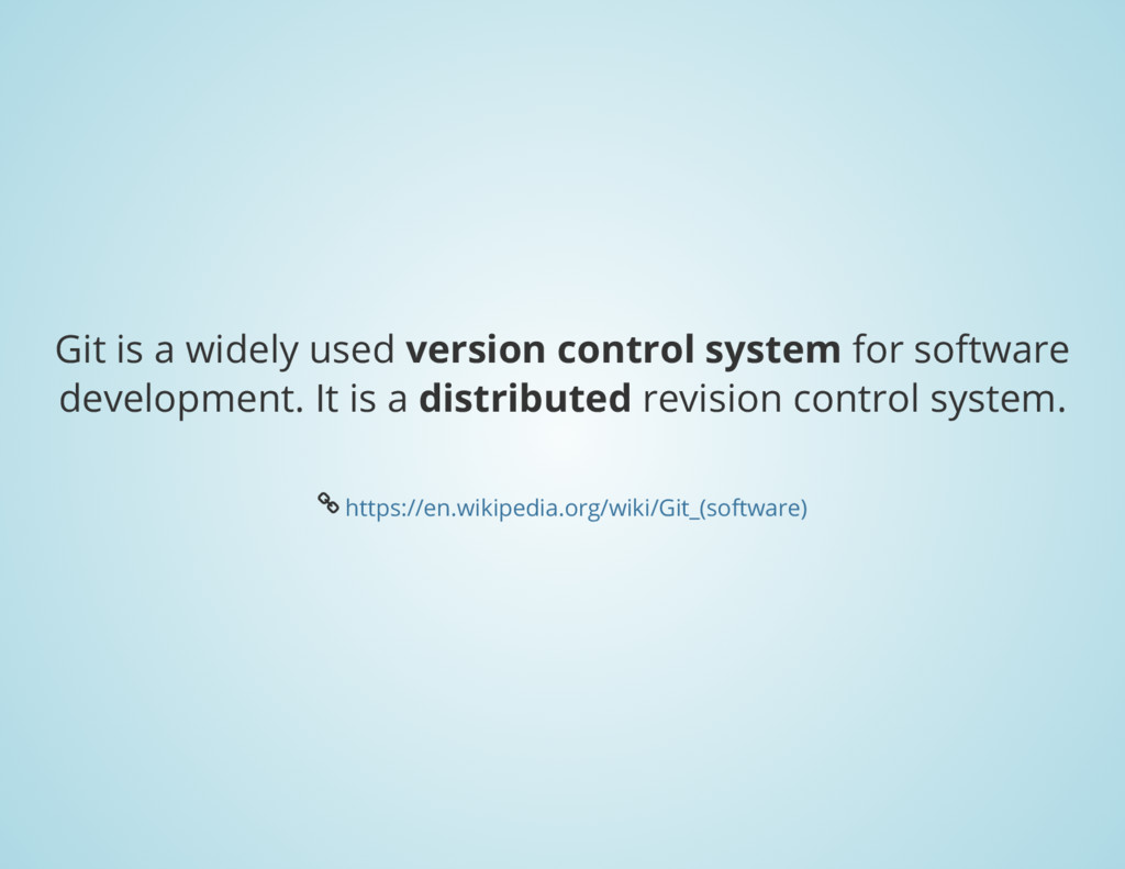 Git is a widely used version control system for...