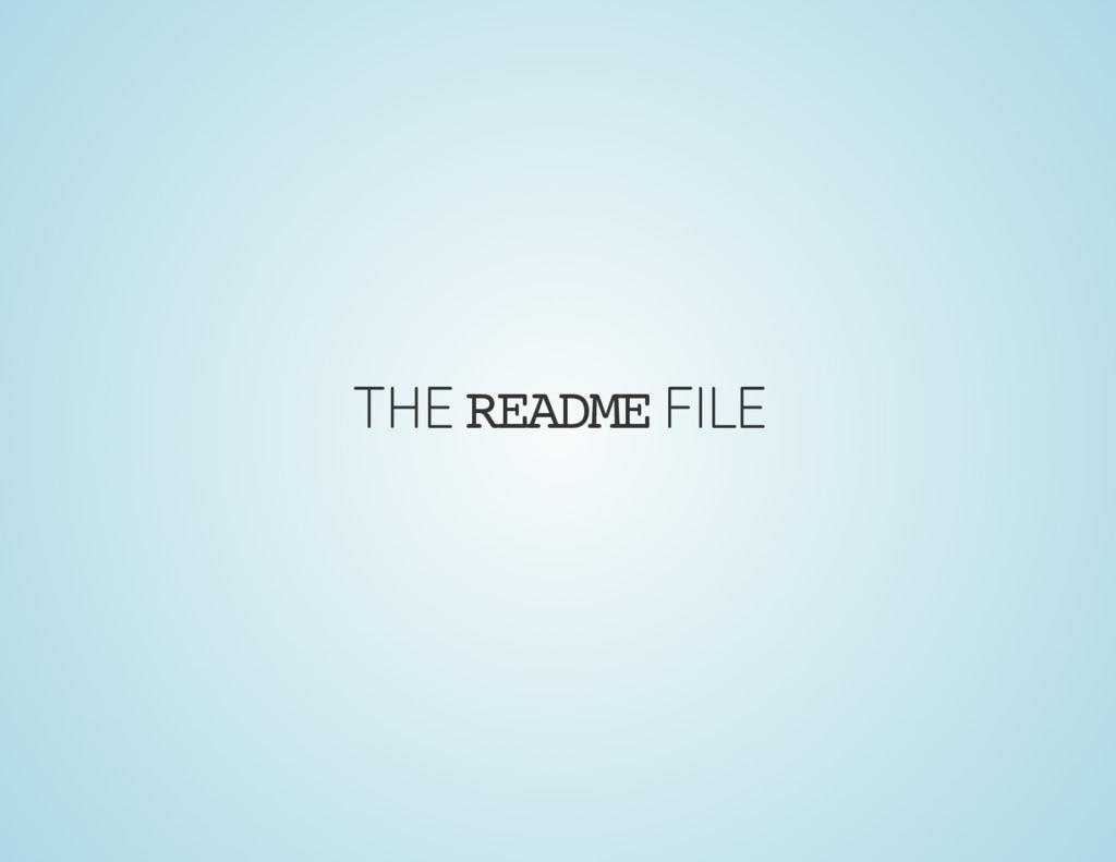 THE README FILE