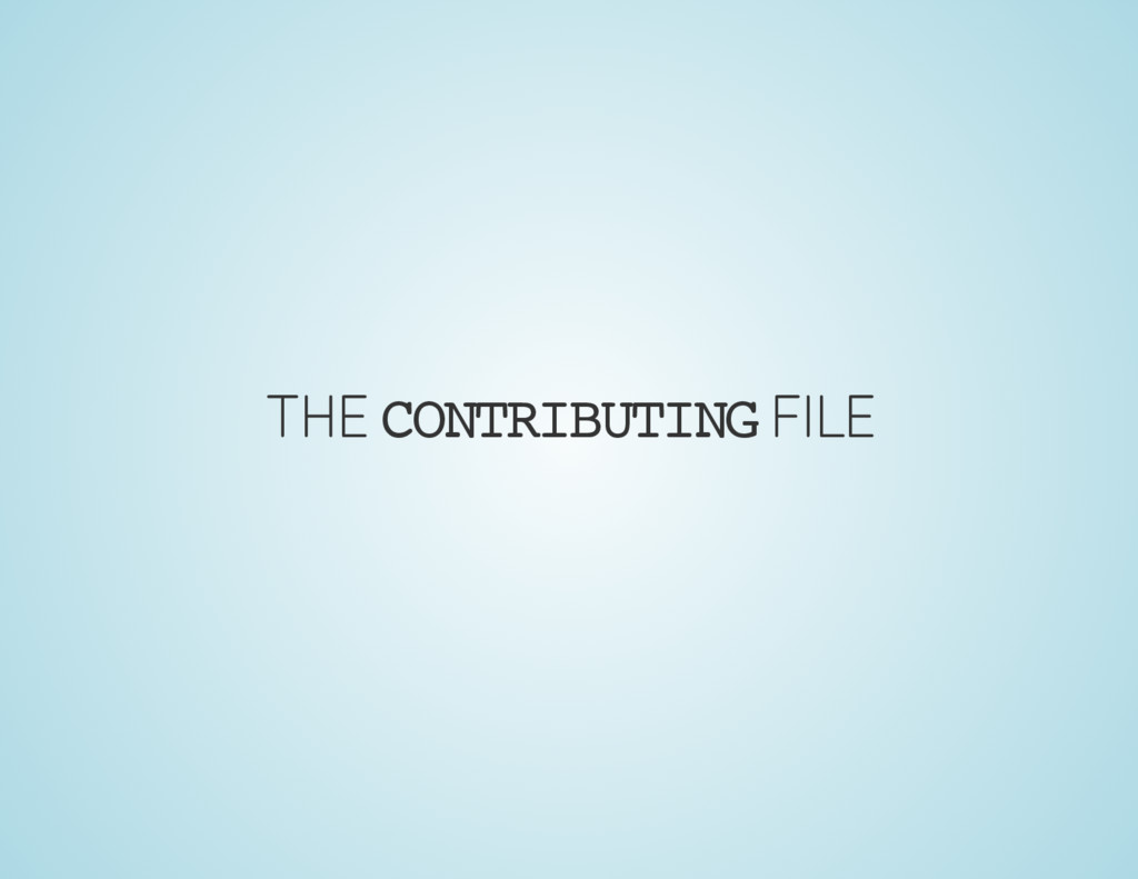 THE CONTRIBUTING FILE