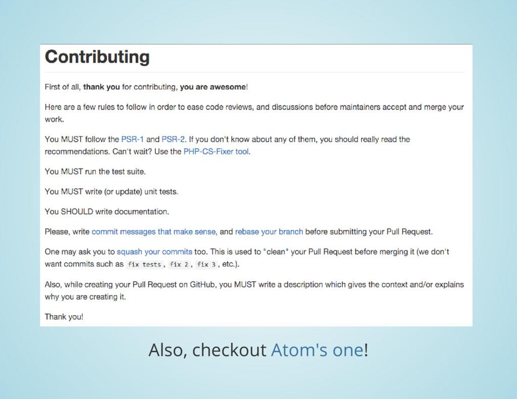 Also, checkout ! Atom's one