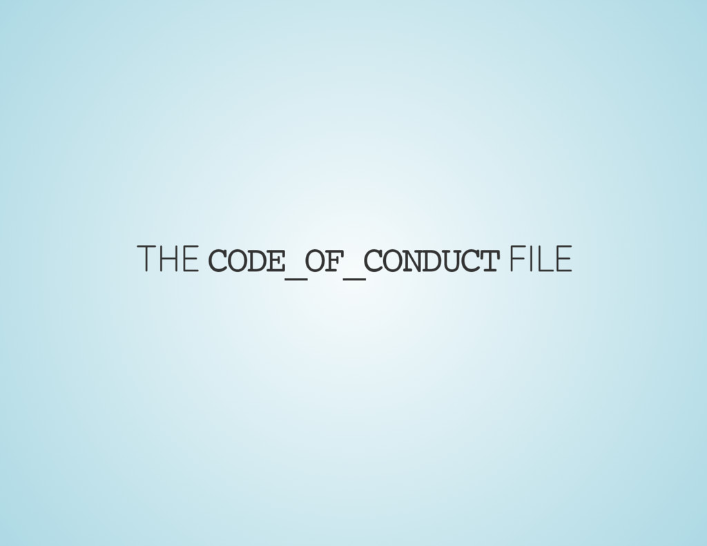 THE CODE_OF_CONDUCT FILE