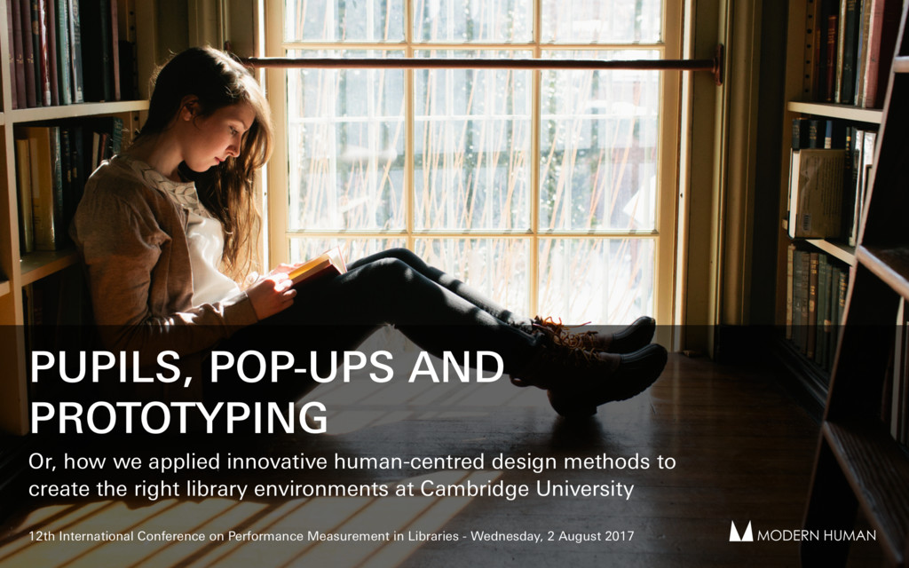 PUPILS, POP-UPS AND PROTOTYPING Or, how we appl...