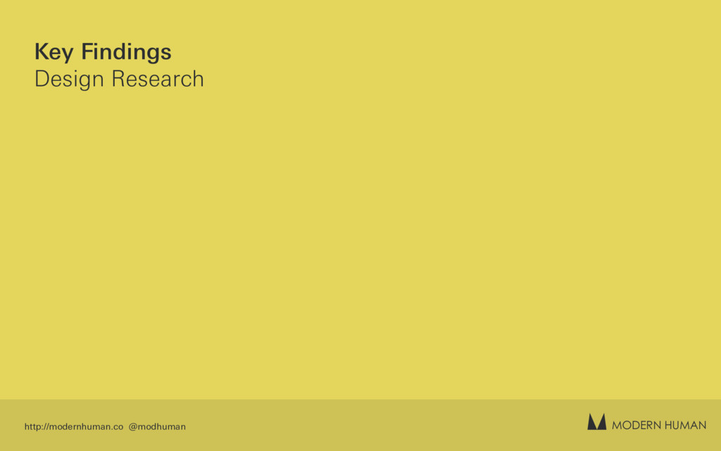 MODERN HUMAN Key Findings Design Research http:...