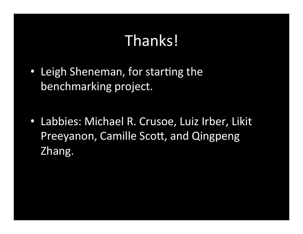 Thanks!	