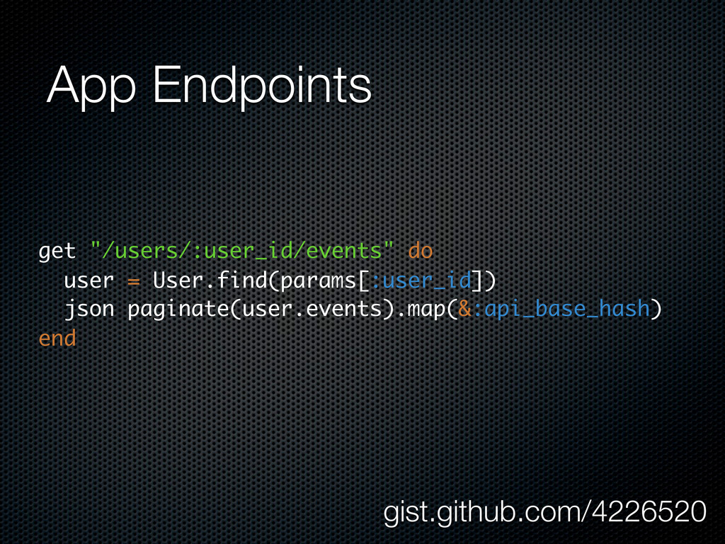 """App Endpoints get """"/users/:user_id/events"""" do u..."""