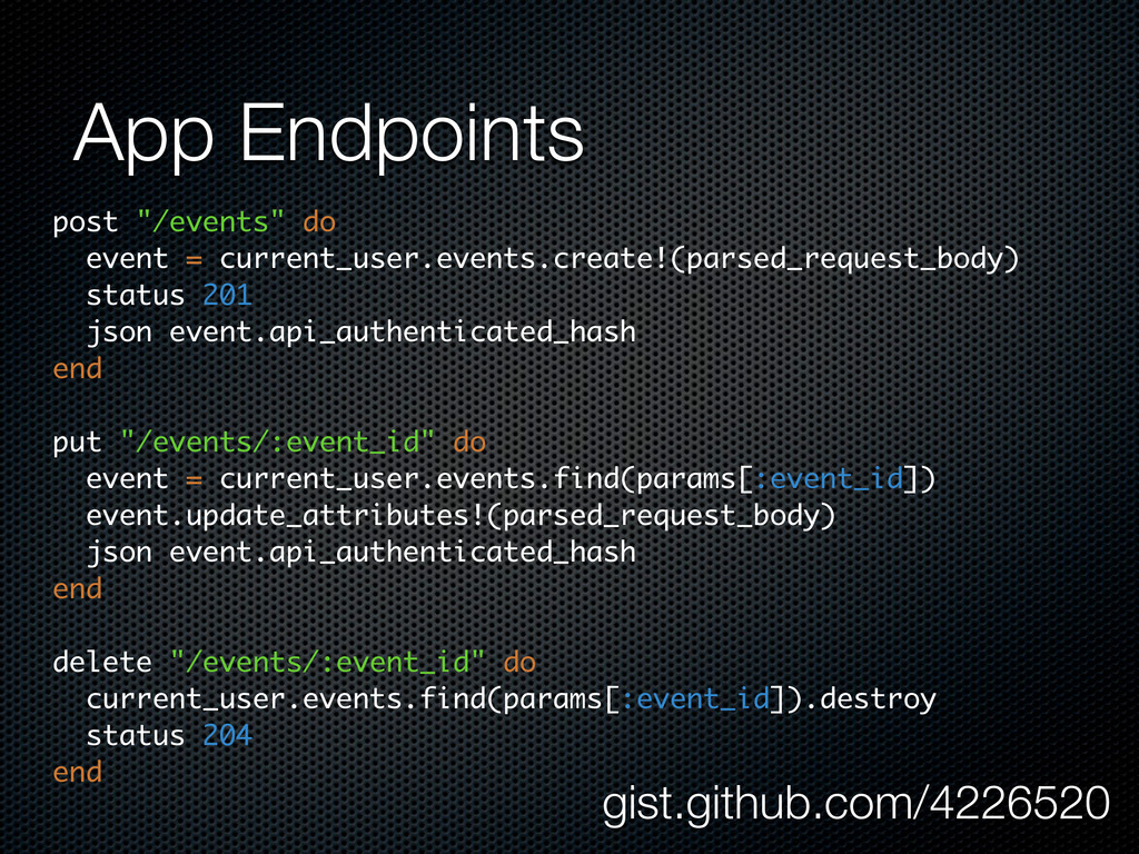"""App Endpoints post """"/events"""" do event = current..."""