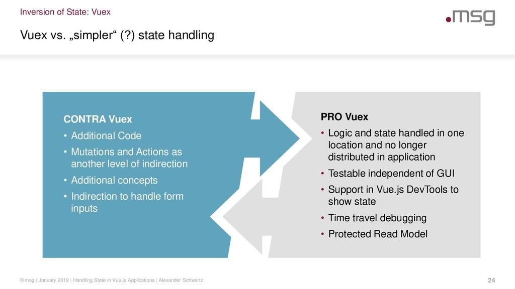 """Inversion of State: Vuex Vuex vs. """"simpler"""" (?)..."""