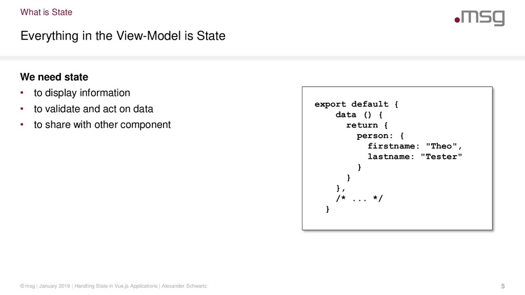 What is State Everything in the View-Model is S...