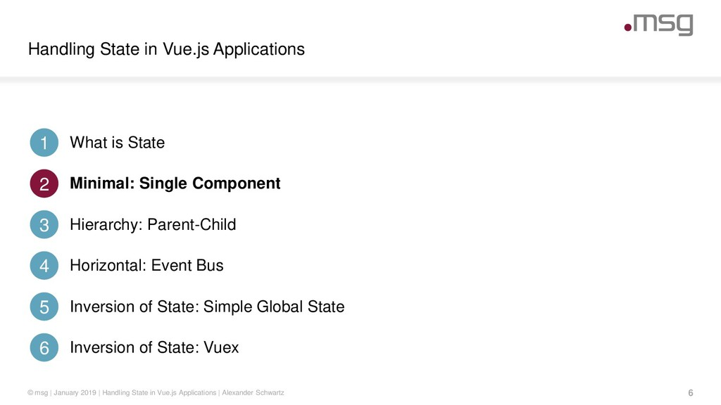 Handling State in Vue.js Applications 6 © msg |...
