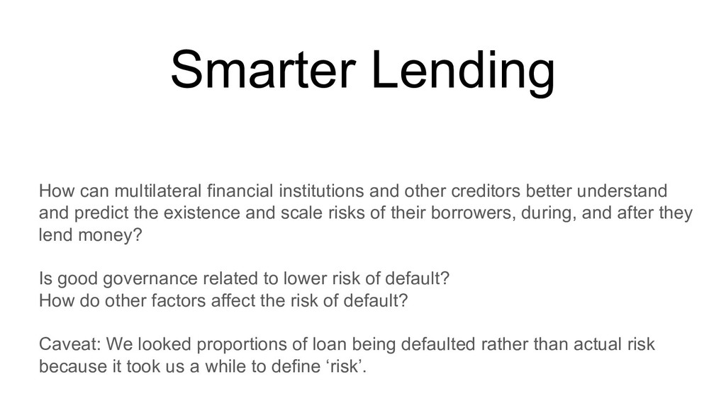 Smarter Lending How can multilateral financial ...
