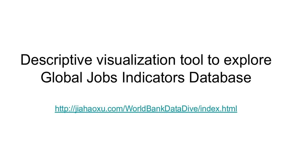Descriptive visualization tool to explore Globa...