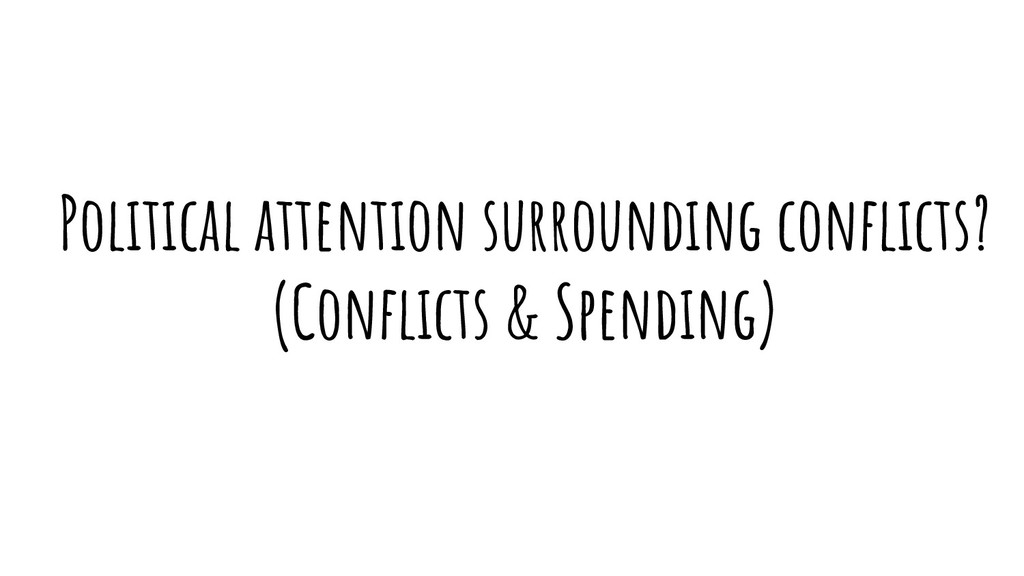 Political attention surrounding conflicts? (Confl...