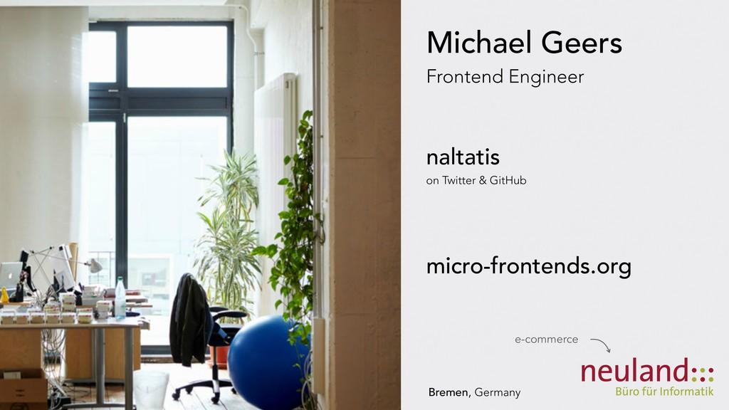 Michael Geers Frontend Engineer naltatis on Twi...