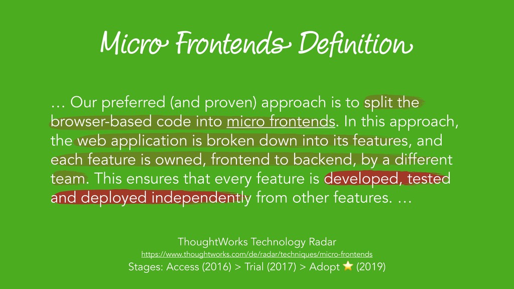 Micro Frontends Definition ThoughtWorks Technolo...