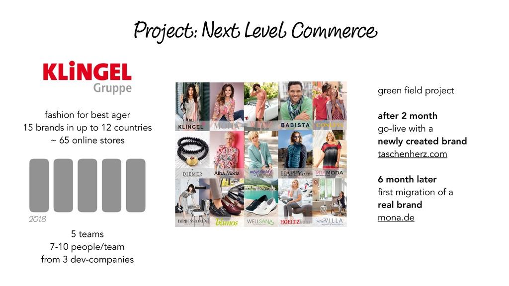 Project: Next Level Commerce 5 teams 7-10 peopl...