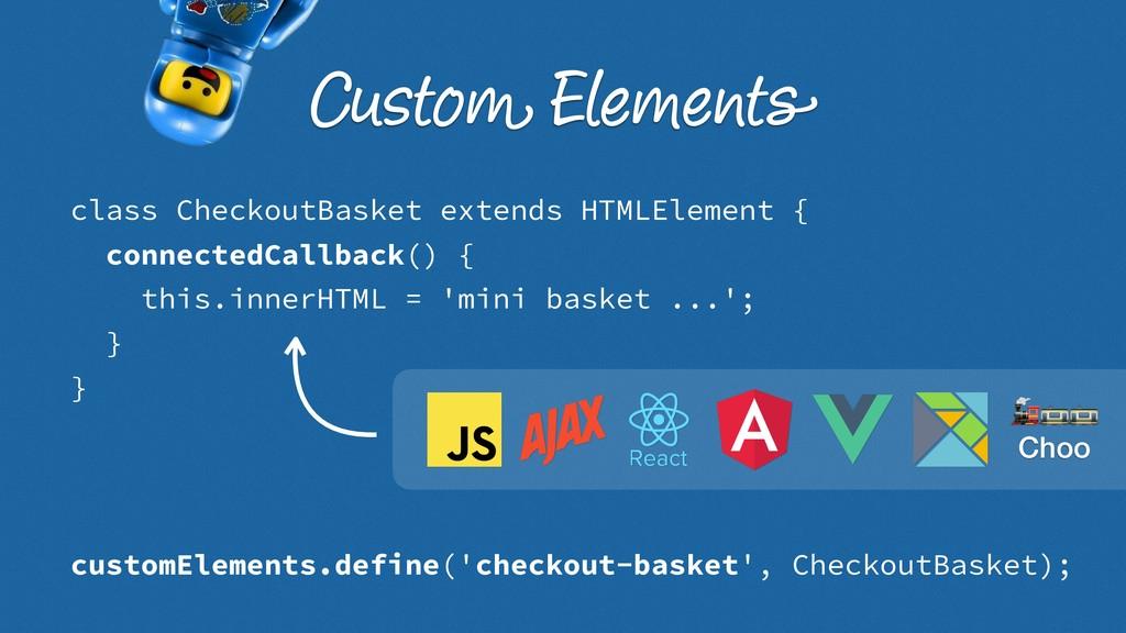 class CheckoutBasket extends HTMLElement { conn...