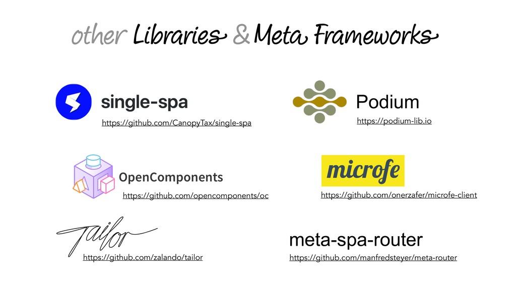 other Libraries & Meta Frameworks https://githu...