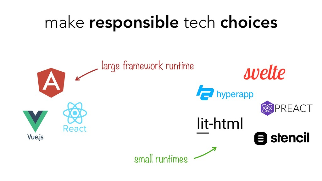 make responsible tech choices large framework r...