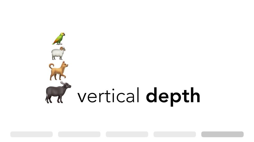 vertical depth . / 0 1
