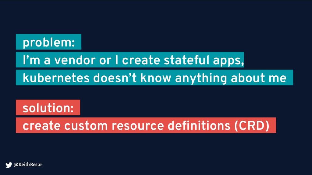@KeithResar _problem:_ _I'm a vendor or I creat...