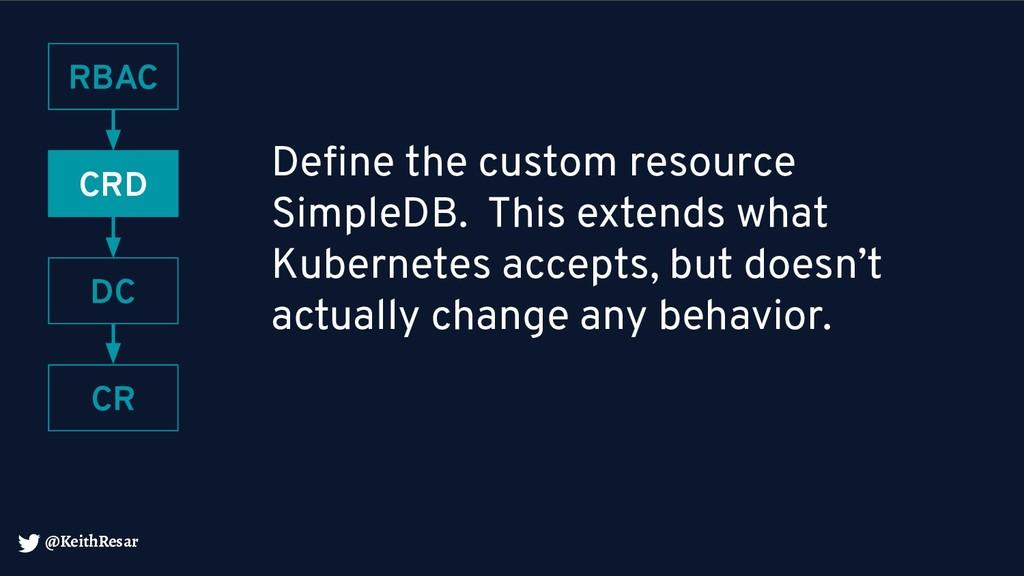 @KeithResar Define the custom resource SimpleDB....