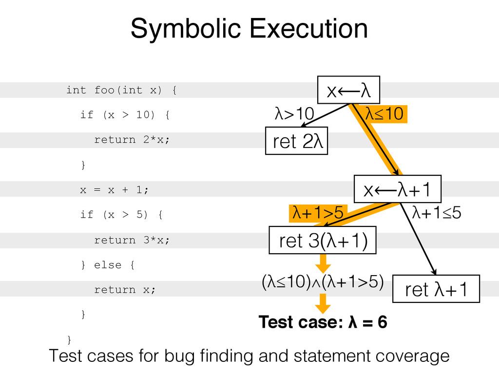 Test case: λ = 6 (λ≤10)∧(λ+1>5) λ+1>5 λ>10 λ≤10...