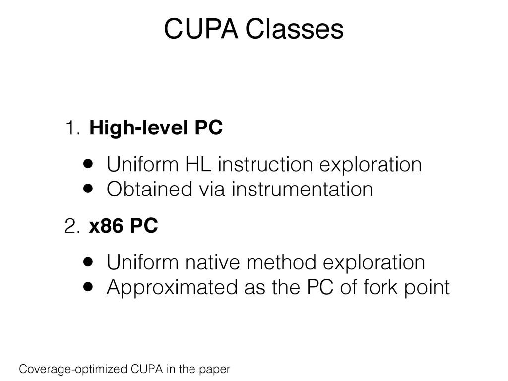 CUPA Classes 1. High-level PC • Uniform HL inst...
