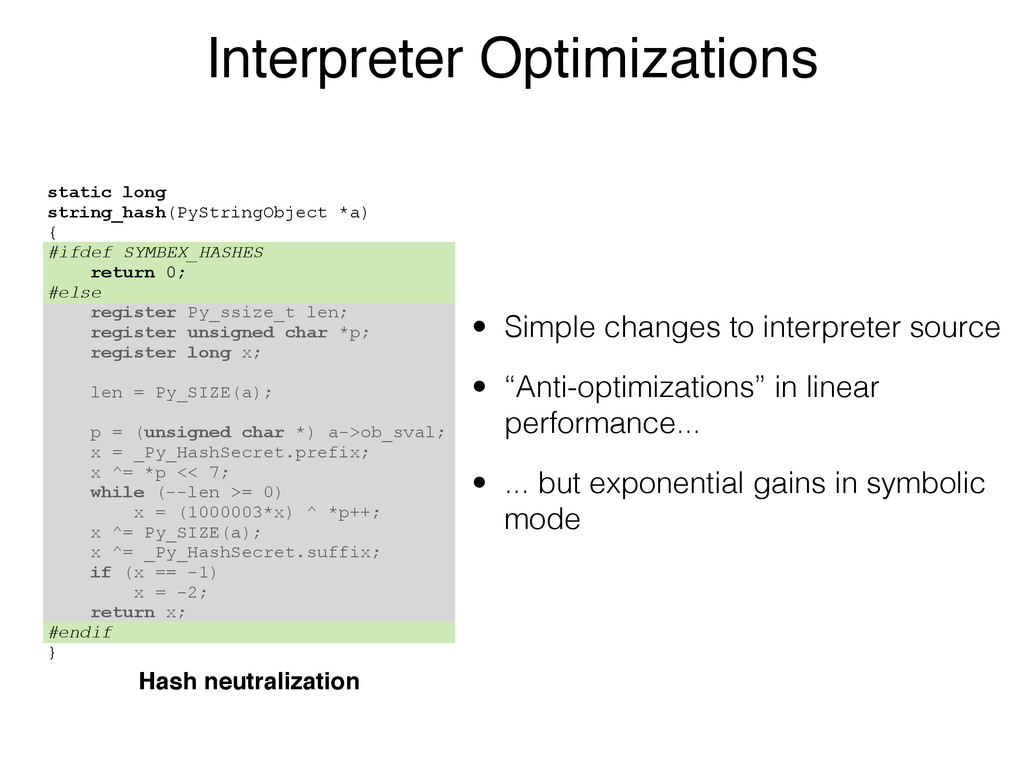 Interpreter Optimizations • Simple changes to i...