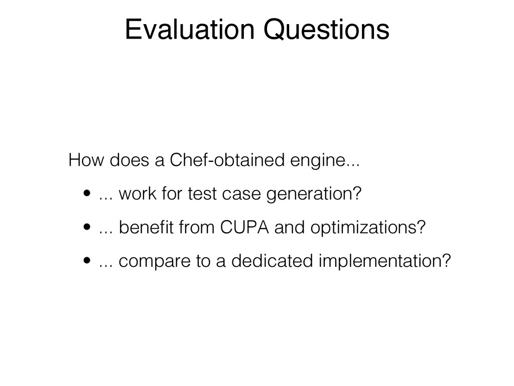Evaluation Questions How does a Chef-obtained e...