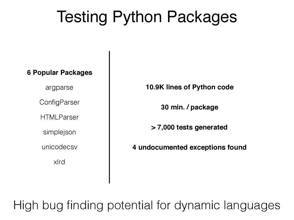 Testing Python Packages xlrd simplejson argpars...