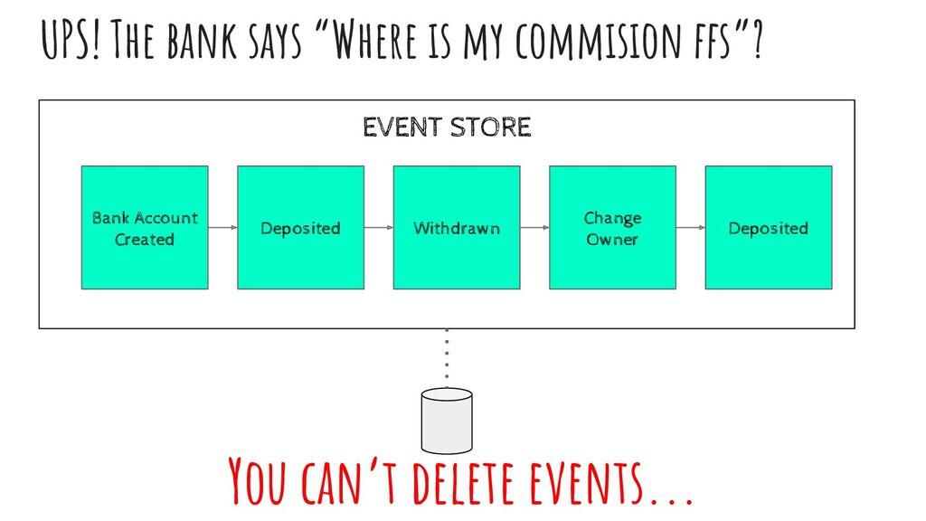 "EVENT STORE UPS! The bank says ""Where ıs my com..."