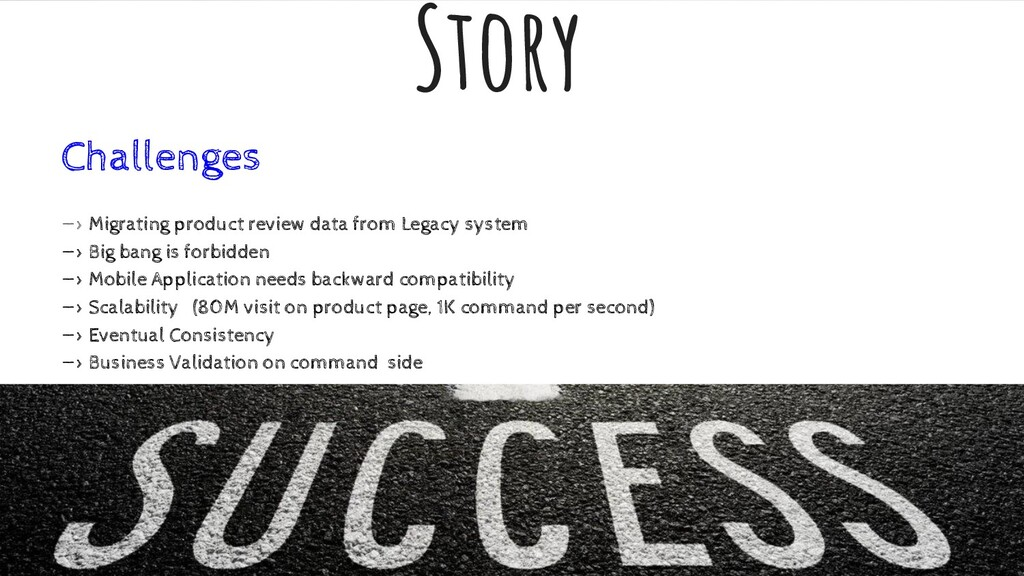 Story Challenges —> Migrating product review da...