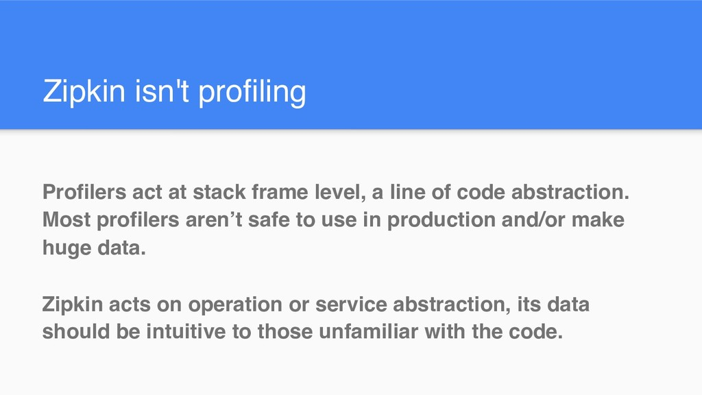 Zipkin isn't profiling Profilers act at stack f...
