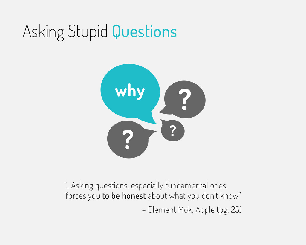 """""""...Asking questions, especially fundamental on..."""