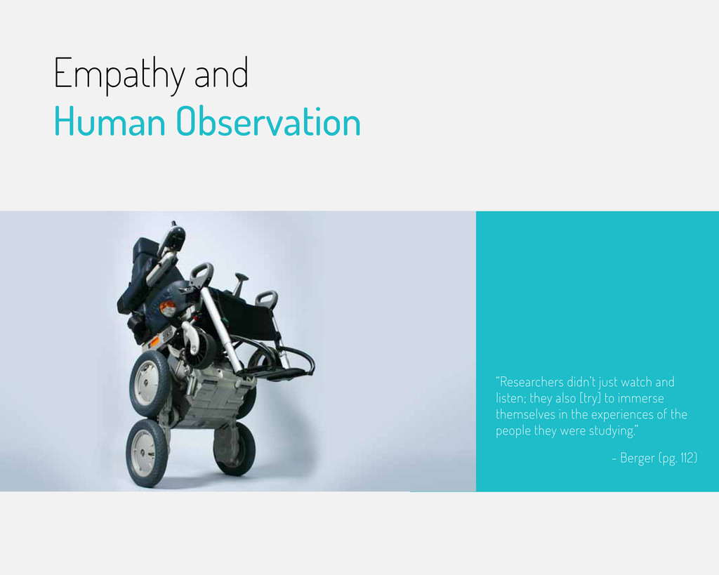Empathy and Human Observation - Berger (pg. 112...