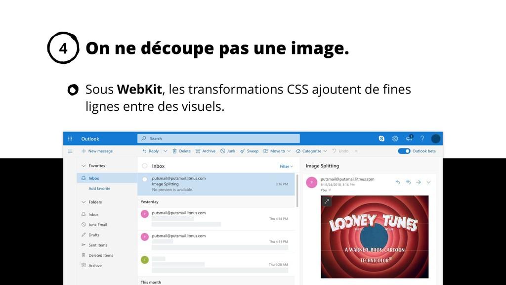 On ne découpe pas une image. 4 Sous WebKit, les...