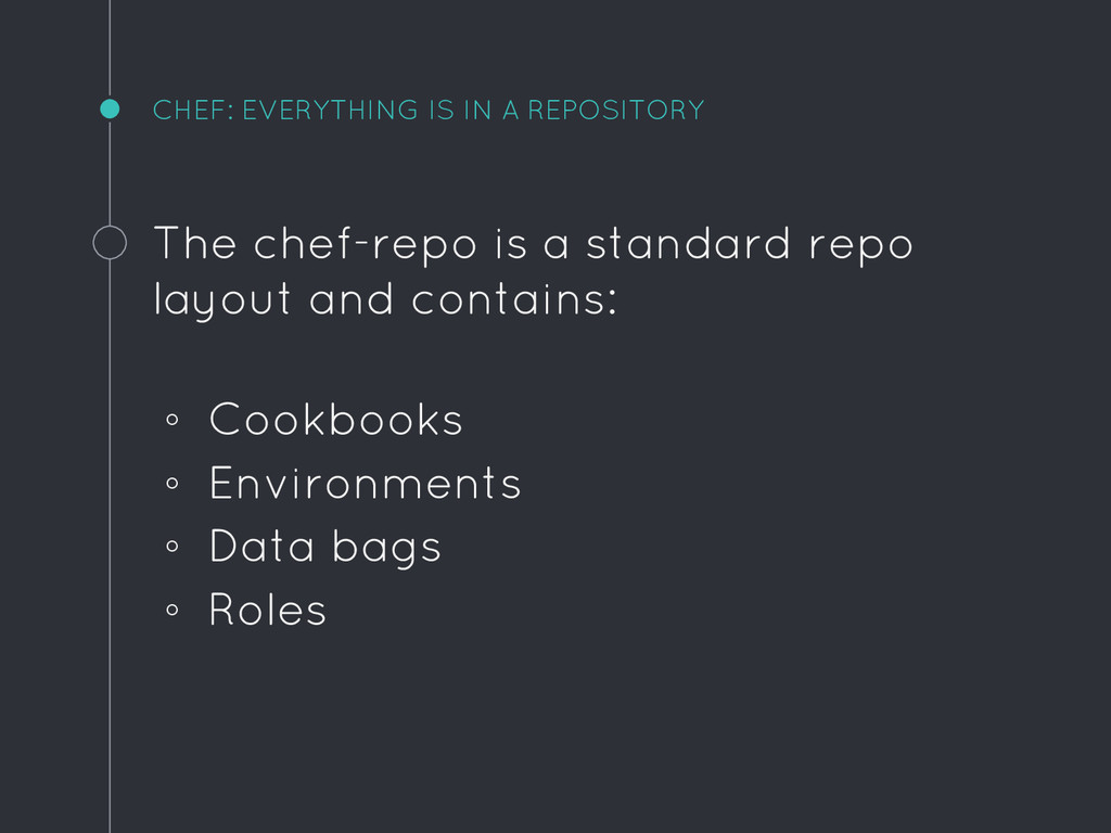 CHEF: EVERYTHING IS IN A REPOSITORY The chef-re...