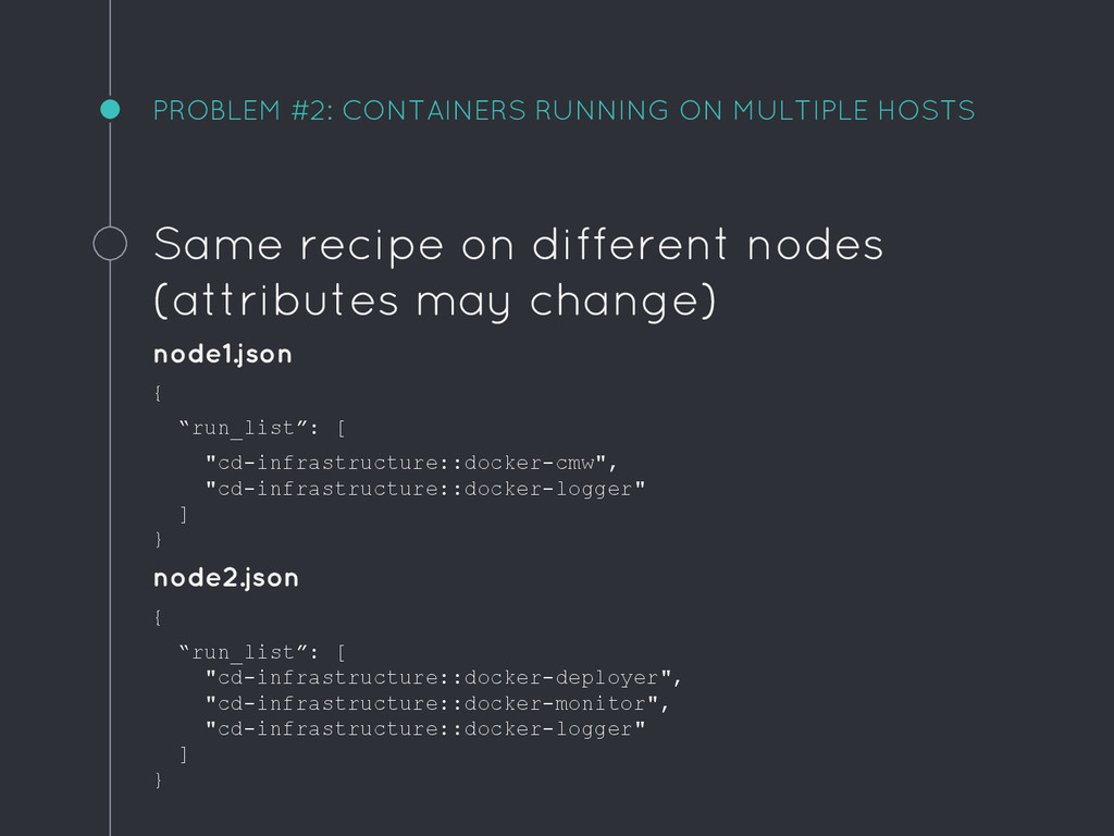 PROBLEM #2: CONTAINERS RUNNING ON MULTIPLE HOST...