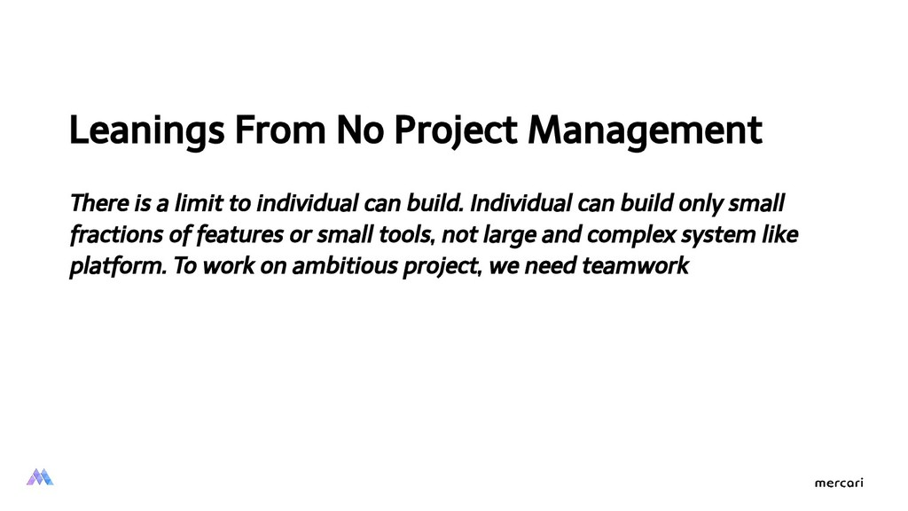 Leanings From No Project Management There is a ...