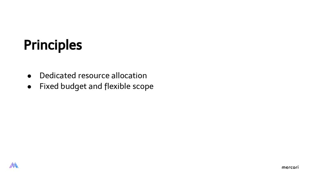 Principles ● Dedicated resource allocation ● Fi...